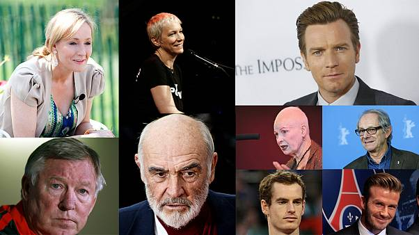 Which celebrities are backing Scottish independence?