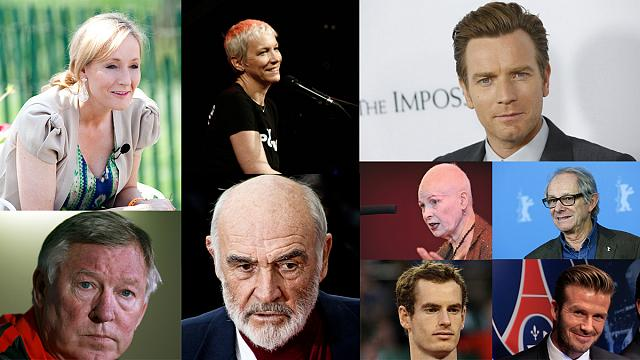 A skót függetlenségi népszavazás a hírességeket is megosztja