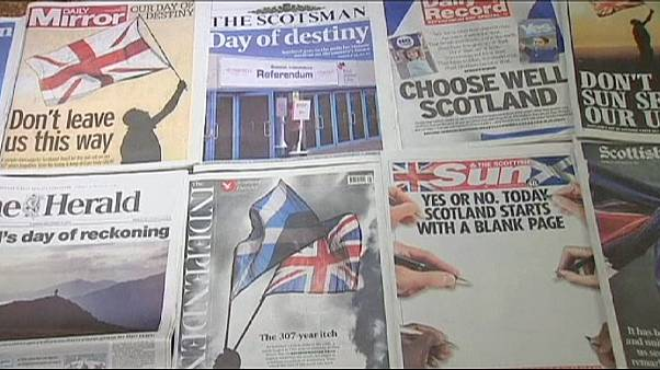 Dramatic newspaper front pages on Scotland's 'day of destiny'