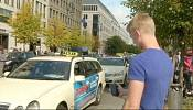 Taxi battle: traditional cabbies take on car-sharing service Uber