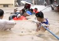 Tens of thousands homeless after flooding in Philippines