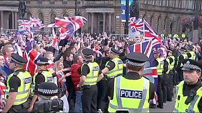 Nach dem Nein: Unionisten pöbeln in Glasgow Nationalisten an