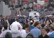 Pope Francis arrives in Albania to promote religious harmony