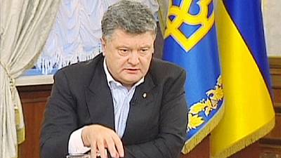 """Poroshenko declares war in east Ukraine """"impossible to win by military means alone"""""""