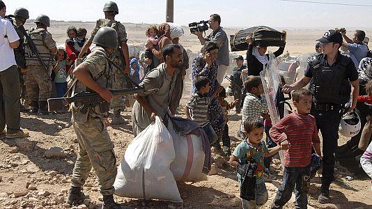 Mais de cem mil curdos estão refugiados na Turquia