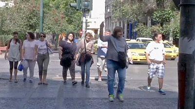Atene. Giro turistico fra i barboni