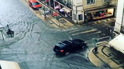 Lisbon is hit by serious flooding