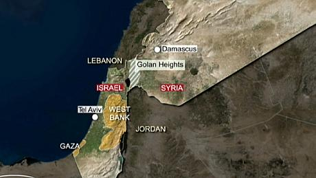Syrian fighter jet shot down by Israel over the Golan Heights