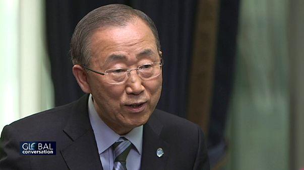 الارهاب والامراض والتغير المناخي ... نقاط حوار مع الامين العام للامم المتحدة بان كي مون