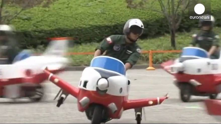 Plane stupid? Japan's air force's scooter gimmick to toast birthday