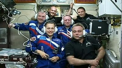 Safe docking for first Russian woman on board ISS
