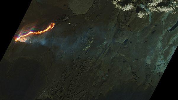 Ισλανδία: Εικόνες του ηφαιστείου Μπαρνταρμπούνγκα από το διάστημα