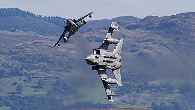 British fighter jets fly over Iraq, ready to strike
