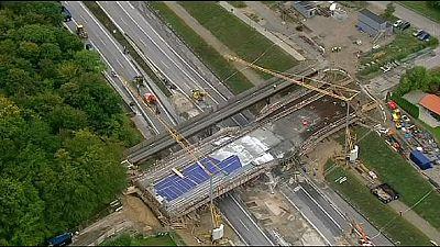 Denmark bridge collapse blocks motorway