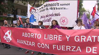 Abortion law defeat celebrated in Spain by Women's parades