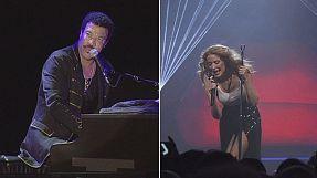 Kylie Minogue und Lionel Richie auf Europatournee