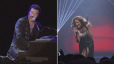 Kylie Minogue y Lionel Richie de gira por Europa