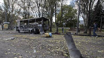 Ten killed in Donetsk violence, school playground shelled