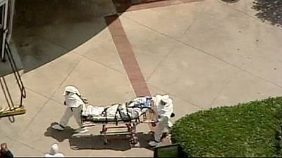 US health officials test for possible Ebola contagion
