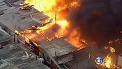 آتش سوزی گسترده در محله فقیر نشین سائو پائولو