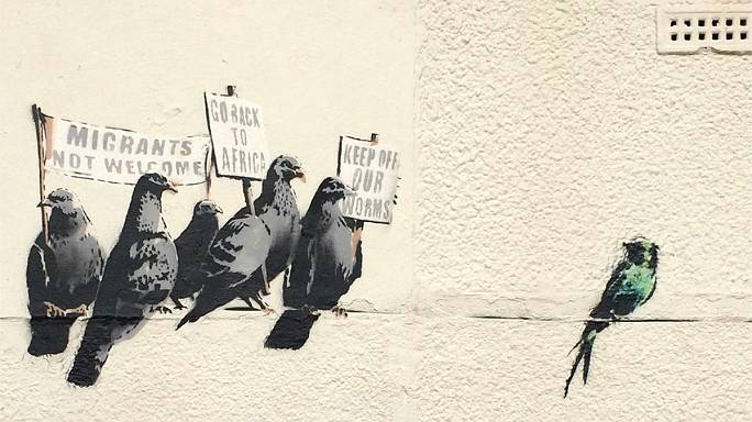 Ironic or racist? Banksy artwork on immigration causes controversy