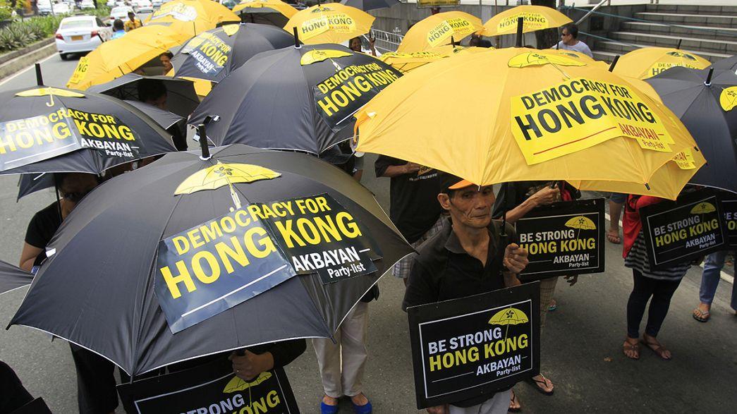 Revolução dos guarda-chuvas resiste em Hong Kong
