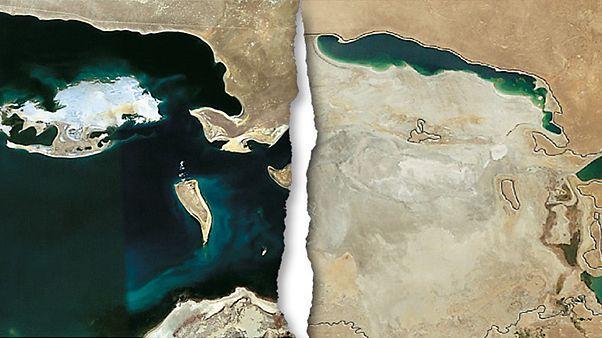 Εικόνες σοκ: Η γιγάντια λίμνη Αράλη έγινε... έρημος