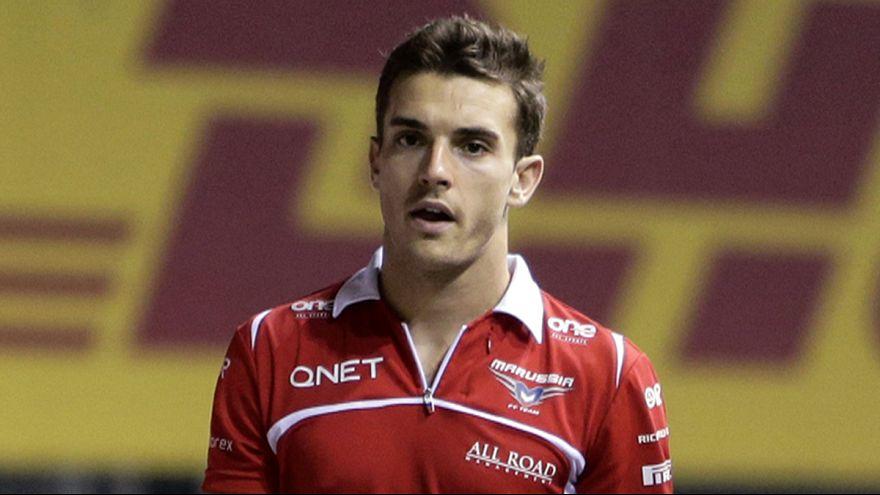 """F1 : les images du choc qui a laissé Jules Bianchi dans un état """"critique"""""""