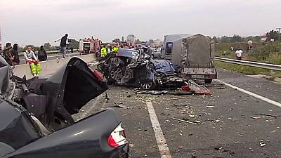 Motorway pile up leaves several dead in northern Greece