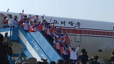 North Korea: crowds greet athletes returning from Asian Games – nocomment