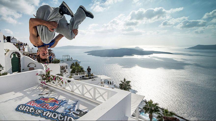Freerunning Santorini : The Greek winner Dimitris Kyrsanidis
