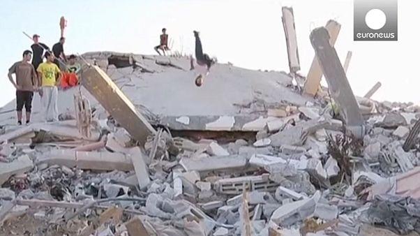 'Parkour' entre las ruinas de Gaza