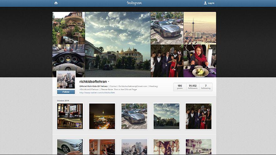 Los niños ricos de Teherán se quedan sin Instagram