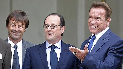 France: Hollande hosts eco-warrior Schwarzenegger for climate talks