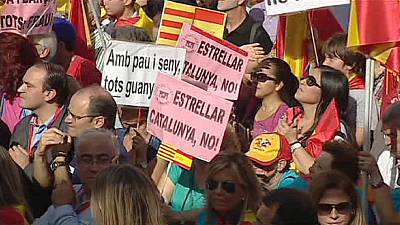 Anti-independence Catalans hold rally rejecting secession moves