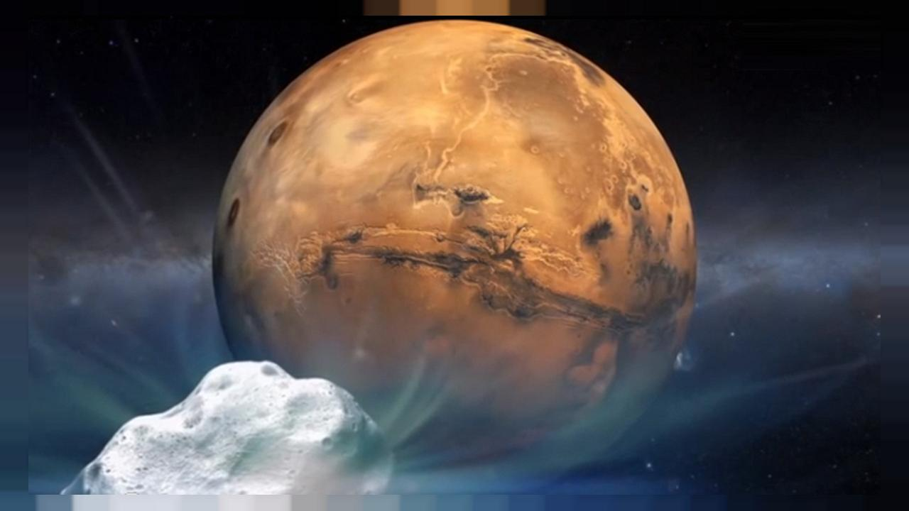 Red planet fly-by: Comet Siding Spring swings past Mars