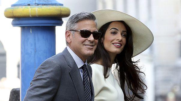 Αmal Alamuddin Clooney gets back to work in Greece