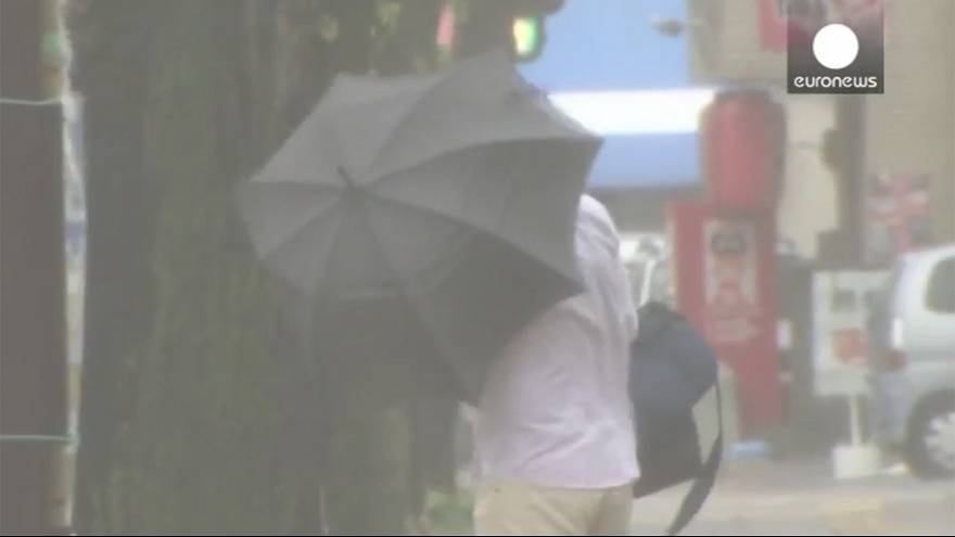 Watch: Typhoon Vongfong hits south Japan