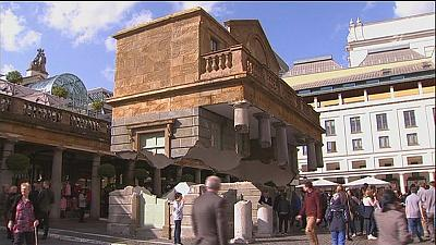 A master of illusion makes London's Covent Garden float
