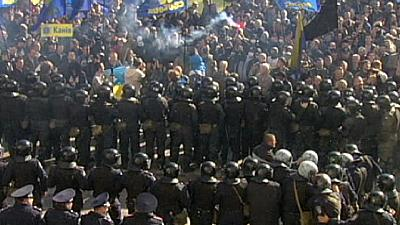 Ukraine: five police injured in clashes near Verkhovna Rada – nocomment