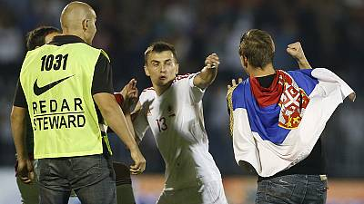 Why is there tension between Serbia and Albania?