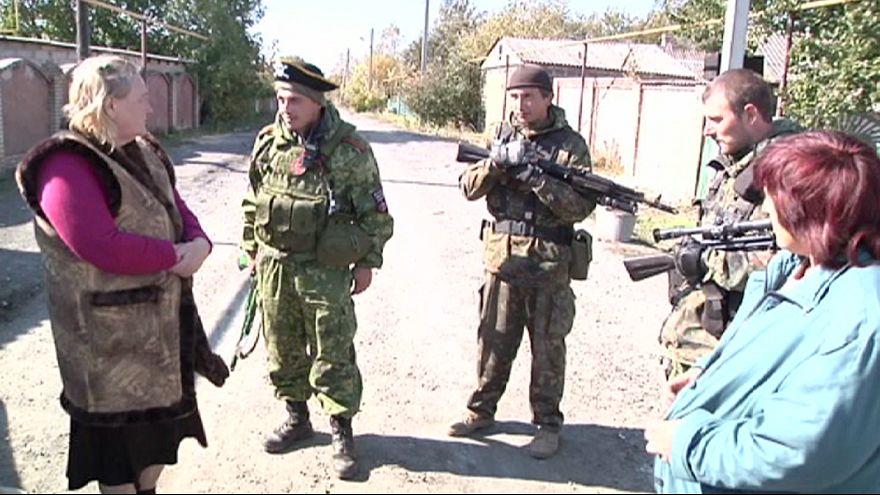 Donetsk: dividida por una línea de fuego
