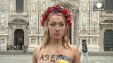 Wo auch immer Putin hinreist: FEMEN-Frauen sind schon da