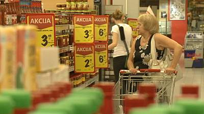 Eurozone inflation slips again, exports fall