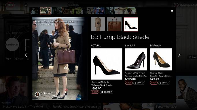 LookLive: watch a series, spot a piece of clothing, buy it