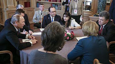 Russia and Ukraine leaders progress during private talks