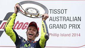 Speed: Rossi vince in Australia, al 250° GP nella classe regina