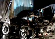 Narrow escape for truck driver in China