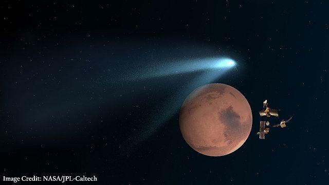 مذنب يمر بمحاذاة كوكب المريخ