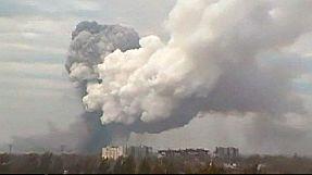 Powerful explosion shakes eastern Ukraine